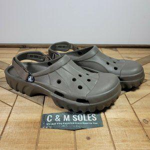 Crocs Off Road Lug Hiking Clog With Adjustable Strap Gray